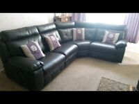 Corner Sofa Suite Double Recliner (3 months old and free delivery within 15mile radius)