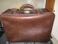 Leather overnight case