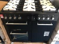 BRAND NEW GRADE ALEISURE AL90F230K Dual Fuel Range Cooker - Black. £699.99