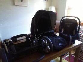 BRITAX B-SMART BLACK TRAVEL SYSTEM GREAT CONDITION