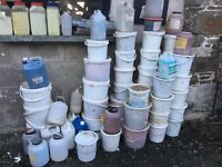 Buckets of glazes and slips job lot for sale, would suit enthusiast or studio to experiment with.