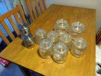Glass storage jars canisters