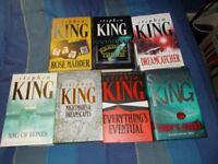 Selection Of Stephen King Hardback Books