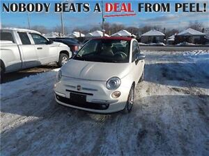 2015 Fiat 500C **Almost NEW Less Than 500KM** Convertible, Leath