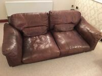 1 large 4 seater & 1 Large 2 seater very comfortable soft leather Barker & Stonehouse Sofas .