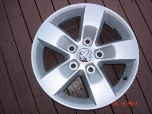 "2014 Dodge Ram 1500 Alum. OEM 17""x 5 bolt x 5 spoke rims , no tires"