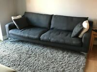 Sofa 3-seater in anthracite grey
