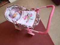"""Dolls Pram """"Princess Cup-Kate"""" by Hauck including doll and bottle - Shipley"""
