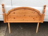 Pine headboard FREE DELIVERY PLYMOUTH AREA