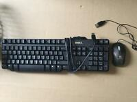 USB Dell keyboard and usb mouse