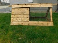 wooden Chicken poultry coop rabbit hutch ark run