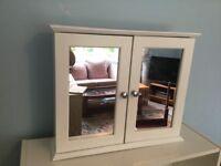 Mirrored Bathroom Wall Cabinet 2 Mirrored Doors adjustable shelf 18.5in/47cmW22.5in/56cmD5.5in/14cm