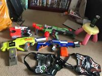 Nerf gun party set up
