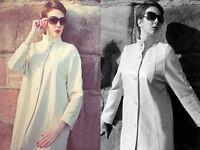 Ladies Lakeland Retro style, Quality Leather coat. Natural Colour, Size 10 ... £55
