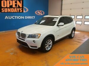 2014 BMW X3 PREMIUM PACKAGE! LEATHER! NAVI! PANO ROOF!
