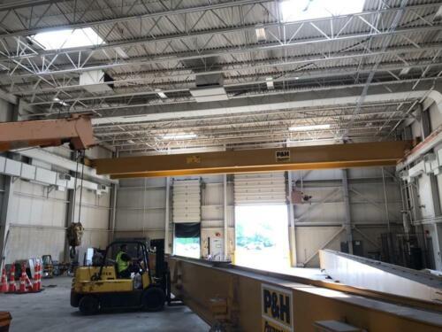 Pair of 10 Ton P&H Pacesetter Top Running Overhead bridge cranes 78