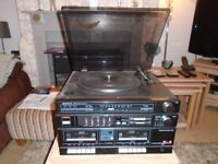 Vintage Sanyo Stereo Music System - Model GXT 70