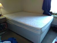 Double divan bed with draw and mattress for sale. £50 collection only (Mill Road area)