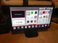 "27"" LG SMART TV BUILTIN FREEVIEW HDMI USB PORTS WITH REMOTE CAN DELIVER"