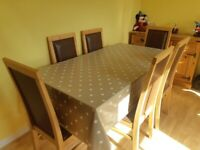 Extendable Dining Table and 6 High Back Chairs