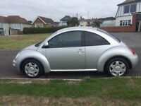 VW Beetle 2.0, 1 year MOT, manual, a/c, electric windows, new tyres all round, great little runner!
