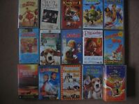 15 VHS Cassette tapes boxed suitable for children (all U/PG).