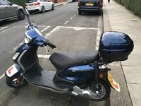Piaggio Fly 125 2010; runs well, low mileage, 1 owner from new