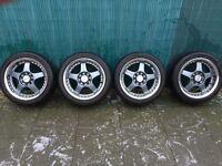 "Lenso RS5 15"" alloys with Nankang tyres"