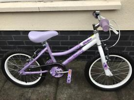 Girls Silverfox 18 inch flutter bike