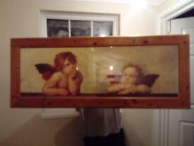 Large Cherub Picture Frame