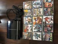 PlayStation 3 with 2 controllers plus games