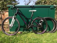 Giant Mountain Bike Tempt 2014 plus spare set of tires Very Good condition