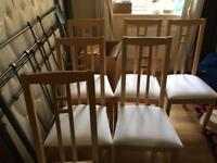 6 IKEA Dining Chairs Aron