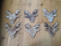 Wooden stag coasters