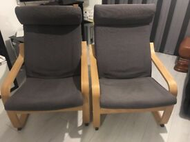 Rocking arm chairs, excellent condition only about 9-10 months old