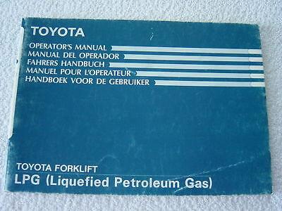 Toyota Lift Truck Lpg Operator Manual