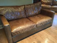 Leather sofa from Sterling Tilicoultry