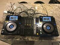 2 x Pioneer XDJ-1000 & DJM-750k Mixer with Flight Case