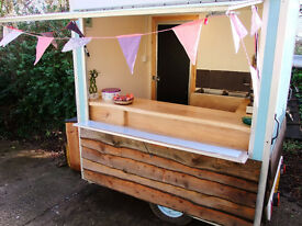 Catering trailer in attractive rustic design (ideal for festivals)