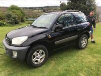 Black Toyota Rav 4 1.8 petrol Full service history Mot till Jan 18