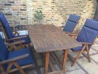 garden furniture/table + 4 chairs/ patio furniture
