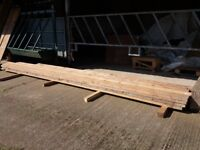 """6"""" x 2"""" timber for sale 18ft lengths £15 per length"""