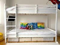 Slatted bunk bed frame
