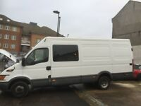 LEFT HAND DRIVE 7 SEATER IVECO DAILY CREW BUS MINI BUS 2007 TWIN WHEEL WITH UK NOVA CERTAIFIC