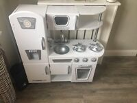 White wooden toy kitchen perfect condition