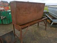 Barley beef cattle feeder with large hopper farm livestock tractor