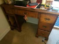 Antique solid wood desk
