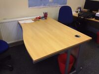 Office Desk - Right Hand Cantilever End (1400 X 1000 X 800 X 725 mm)