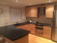 Full kitchen units with fridge,electric hob,oven,dish washer,microwave