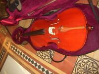 Full size Cello includes bow and hard case ,wonderful sound .
